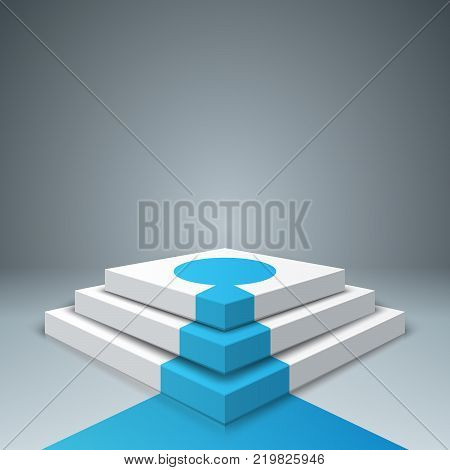 Pedestal, ladder, stair for winners - business infographic. Vector eps 10