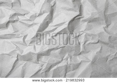 Texture crease of white paper for template wallpaper. wrinkle of gray paper crumpled background. poster
