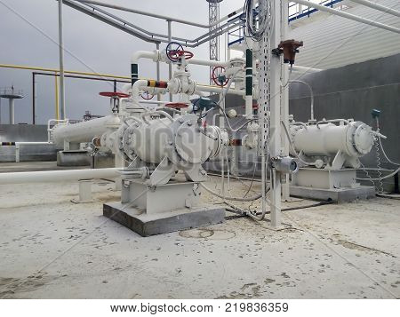 The pump for pumping hot products of oil refining. Equipment refinery.