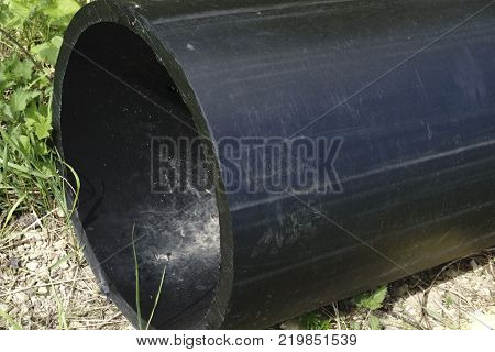 HDPE potable storage pipe HDPE pipeline. the dark one