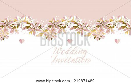 Concept abstract floral pattern. Tender flower banner, card, poster for surface design, wedding invitation. Spring sakura cherry blossom.