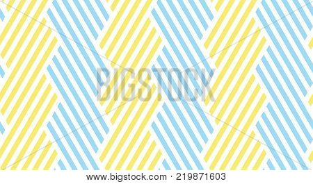 Seamless striped pattern. The yellow and blue summer pattern with stripes. Motif for surface design, for wallpapers, pattern fills, web page backgrounds, surface textures.