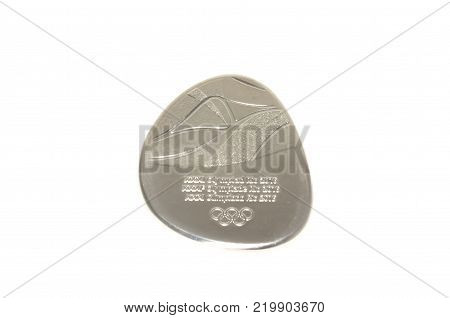 Rio 2016 Summer Olympic Games Participation medal obverse. Kouvola Finland 26.03.2017