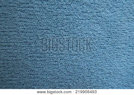 Top view of simple sky blue fabric