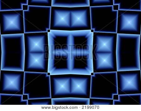 Abstract Blue Window Of Opportunity