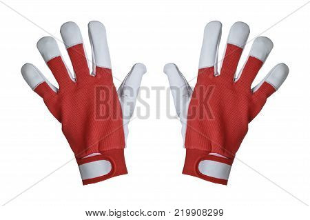 Work gloves isolated on white background, protective equipment