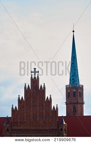 St. Adalbert's Church in Wroclaw Lower Silesian, Poland. The oldest church on the left bank of the Odra River. Founded in 1112 for the Augustinians and later handed over to the Dominicans