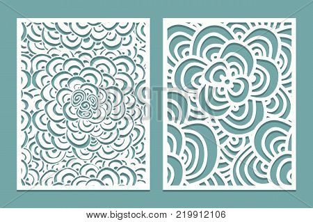 Set Laser Cut Pattern Vector & Photo (Free Trial) | Bigstock