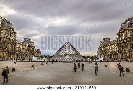 Louvre Museum In Paris City
