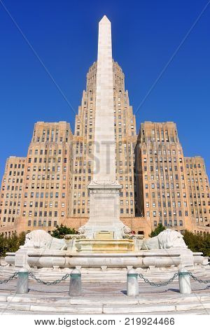 Buffalo City Hall, Art Deco Style building in downtown Buffalo, New York State, USA.