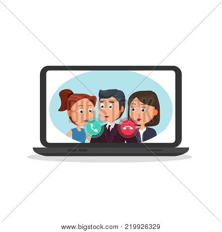 Computer Incoming Vector & Photo (Free Trial) | Bigstock