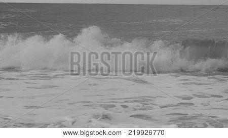 waves on the Mediterranean sea. 4 k shoot