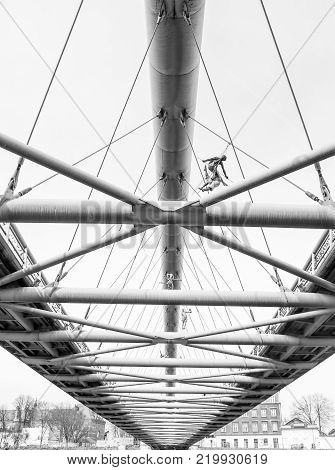 A Bridge in Krakow seen from the bottom.