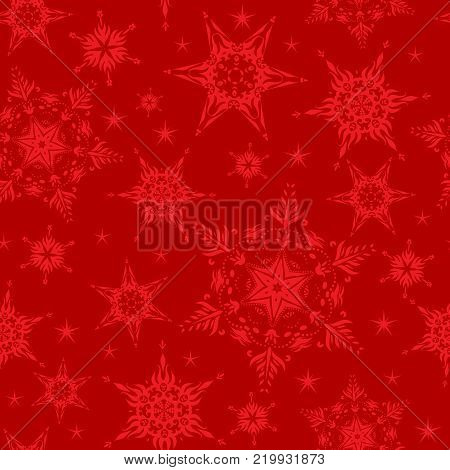 Holiday seamless pattern. Nature winter snowflakes for wrapping paper design