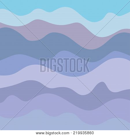 Pattern with lines and waves. Multicolored texture. Abstract dinamic background. Cold colors. Doodle for design
