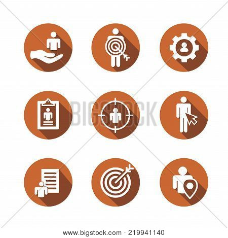 Brand Ambassador Thin Line Outline Icon Set w Megaphone, Influencer Marketing Person and Representative poster