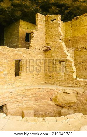 Mesa Verde Cliff Palace August 2014 this is a Kiva is an underground circular room used by the Puebloans for religious rituals and political meetings