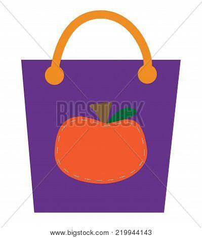 Happy Halloween Holiday Orange Pumpkin Goodie Bag