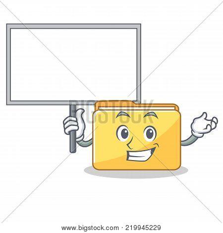Bring board folder character cartoon style vector illustration