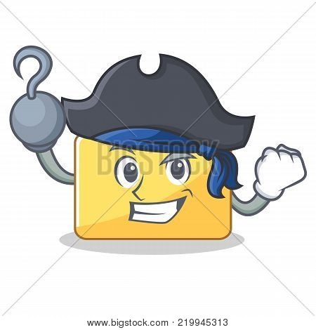 Pirate folder character cartoon style vector illustration