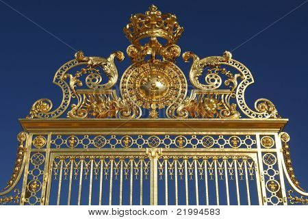 Ornated Majestic Golden Gate Againt Clear Blue Sky