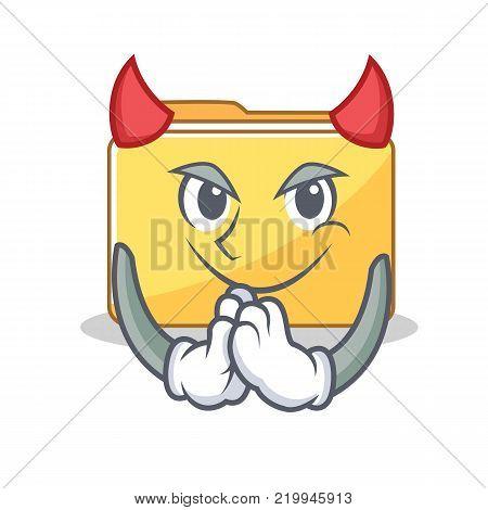 Devil folder character cartoon style vector illustration