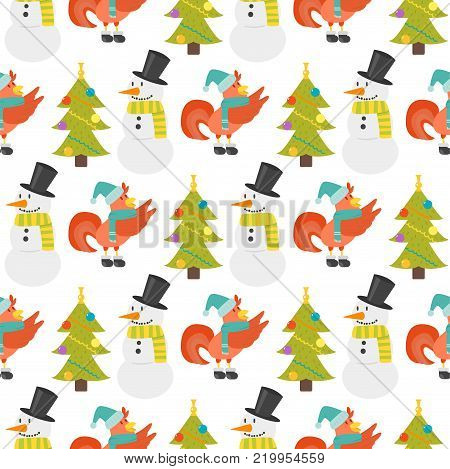 Cute cartoon seamless pattern rooster illustration chicken farm animal agriculture domestic character. Hen fowl color beak fowl cockerel organic christmas symbol.