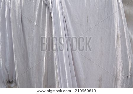 close up old crease Mosquito net texture