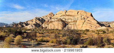 Sandstone formation of Mormon Rocks near San Bernardino in California, USA.