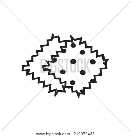 Vector hand drawn outline icon of tissue sample isolated on white background