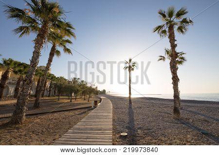 Greenway Or Walkway Between Benicassim And Oropesa