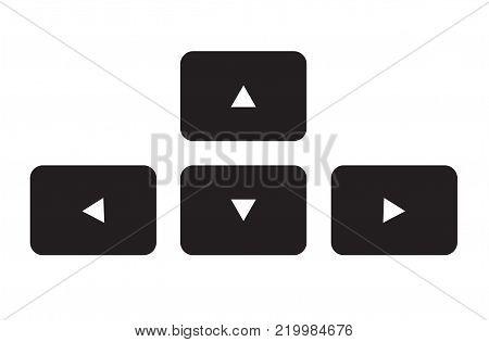 arrow button keyboard icon on white background. arrow button keyboard sign. flat style.