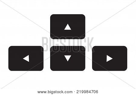 arrow button keyboard icon on white background. arrow button keyboard sign. flat style.
