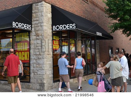 Borders Flagship Store Liquidation Sale