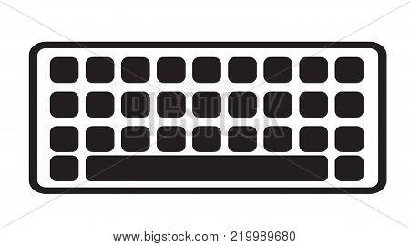 keyboard icon on white background. keyboard sign. flat style.