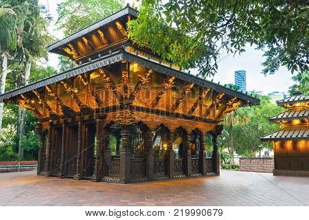 Nepal Peace Pagoda at South Bank Parklands in Brisbane Queensland Australia