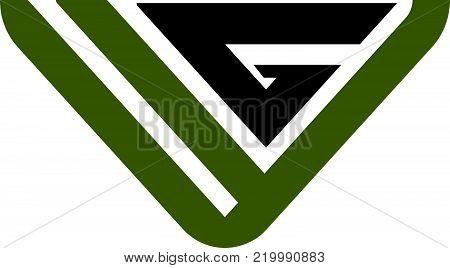 Modern Solution Letter V G Logo Design Template Vector