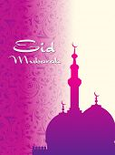 illustration for eid mubarak celebration poster
