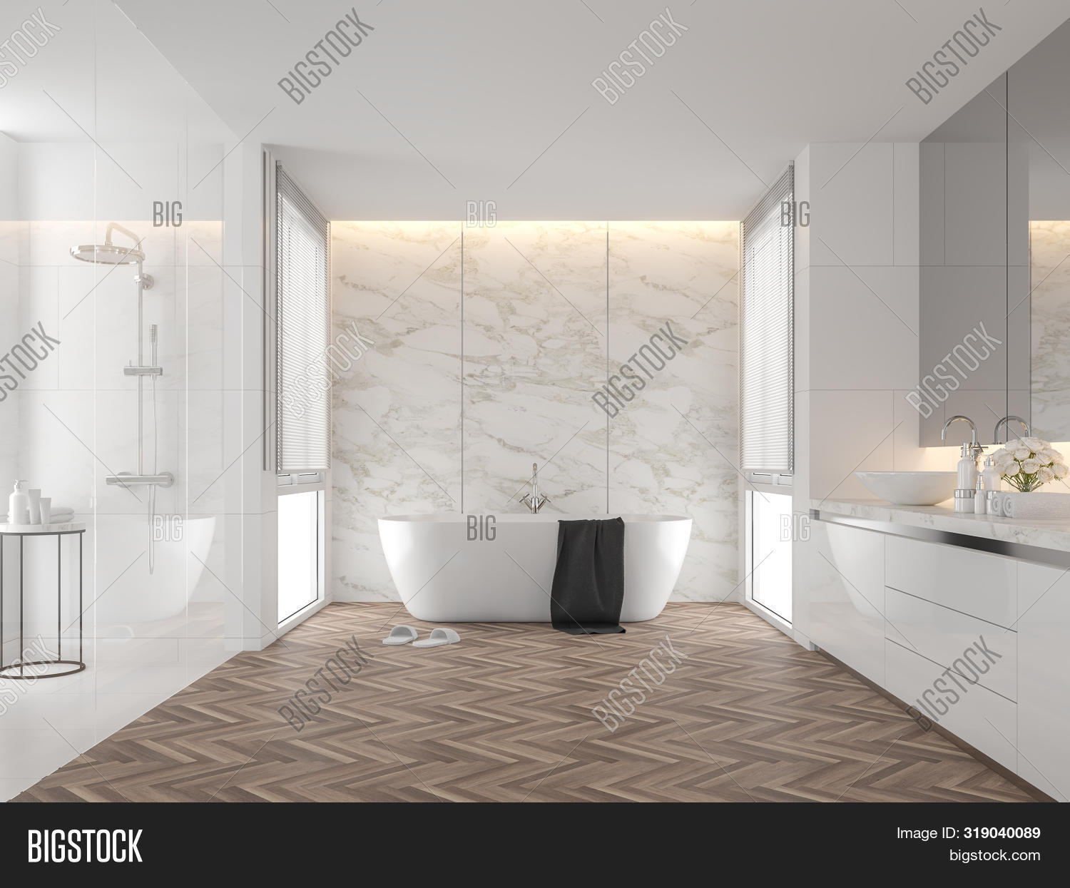 Luxury Bathroom White Image Photo Free Trial Bigstock