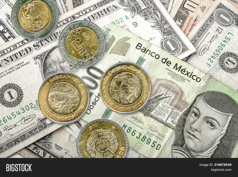 Dollar Mexican Pesos Image Photo