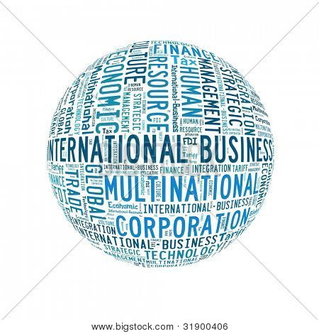 International Business in word collage