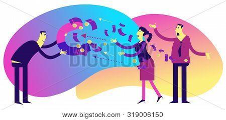 Flat Illustration Design For Presentation, Web, Landing Page, Infographics: Cartoon Characters Men B