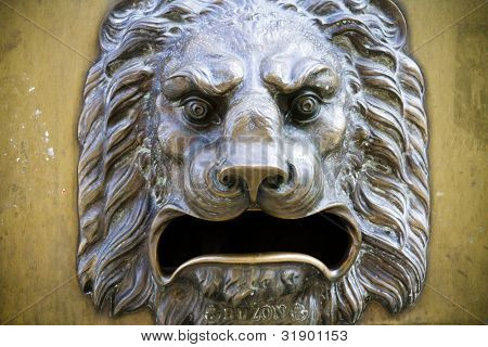 Lion sculpture, decoration for building ,whishes bas-relief