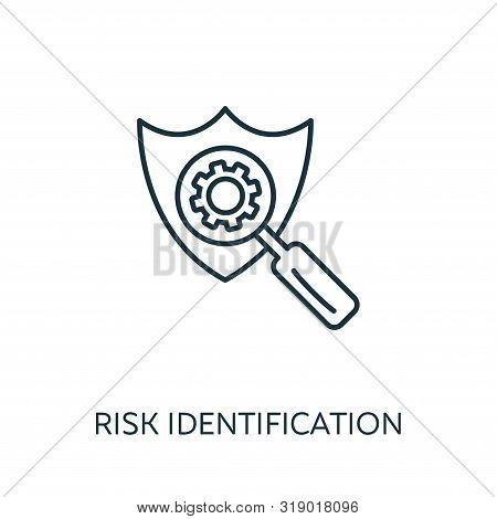 Risk Identification Outline Icon. Thin Line Concept Element From Risk Management Icons Collection. C