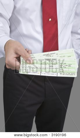 Man With Tickets