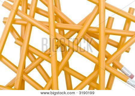 Group Of Yellow Pencils