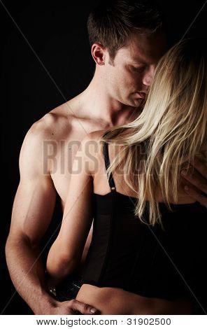 Loving Caucasian Couple