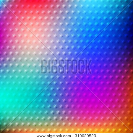 Abstract Colorful Bokeh Background With Glassy Texture. Vector Illustration For Your Graphic Design.