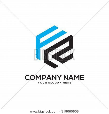 Frinitial Letter Logo Inspiration, F And R Combination Logo Vector With Hexagonal Idea