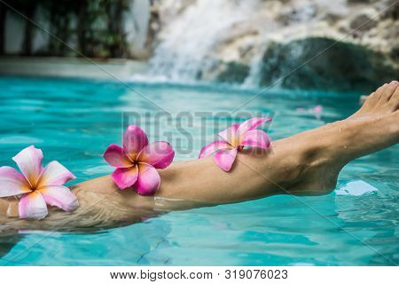 Woman Legs Beauty, Female Smooth Body, Foot Care, Hair Care. Beauty Concept Of Woman Legs, Female Sm